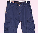Мужские молодежные джинсы на манжете с накладными карманами по бокам, фото 2