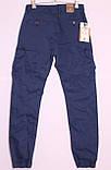 Мужские молодежные джинсы на манжете с накладными карманами по бокам, фото 3