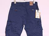 Мужские молодежные джинсы на манжете с накладными карманами по бокам, фото 4
