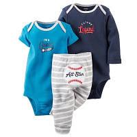 Комплект Боди с коротким рукавом,боди с длинным рукавом и штанишки 13-18 мес. 86 см для мальчика Carter's