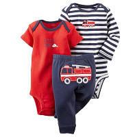 Комплект Боди с коротким рукавом,боди с длинным рукавом и штанишки 4-6 мес. 68 см для мальчика Carter's