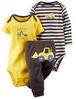 Комплект Боди с коротким рукавом,боди с длинным рукавом и штанишки  7-9 мес. 74 см для мальчика Carter's