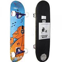 Скейтборд в сборе (роликовая доска) RADIUS RAD-210В (колесо-PU, р-р деки 76х18,5х1,1см, АВЕС-5)