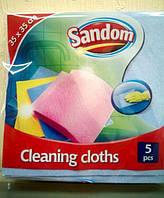 Салфетка для мытья посуды и уборки Sandom 5 шт