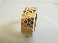 Скотч декоративный металик с рисунком
