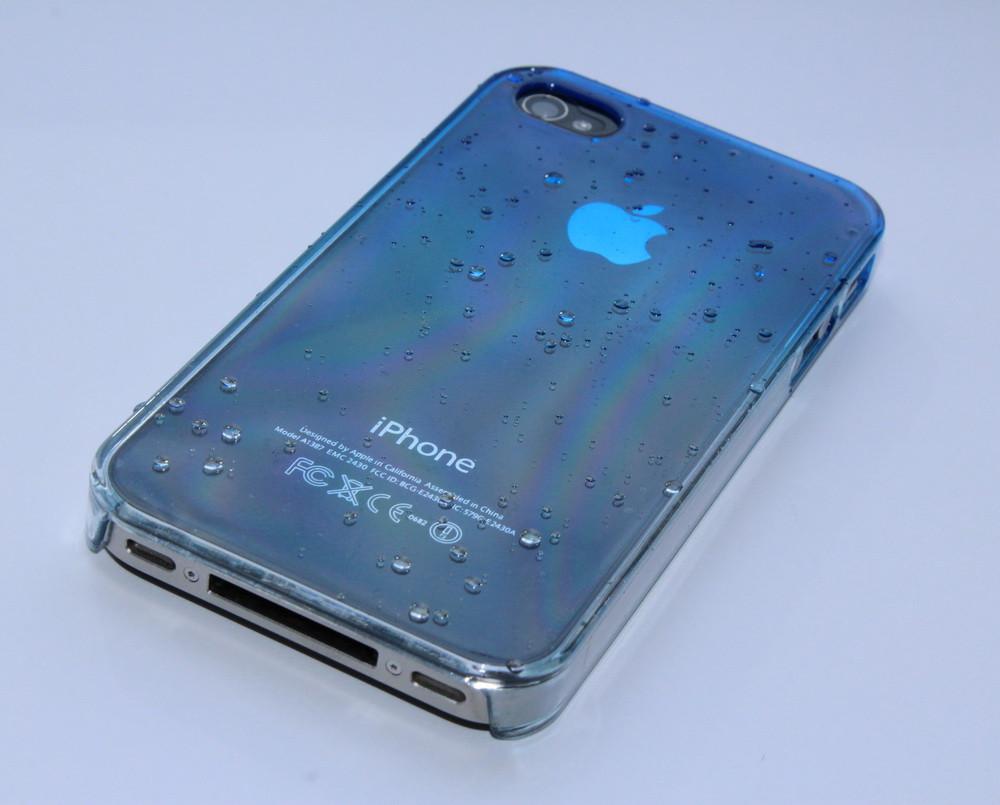 Чехол для iPhone 4 4S 3D капли дождя