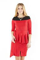 Женское платье с баской, фото 1