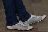 Удобные и модные женские туфли летние с сеткой размеры 38,40