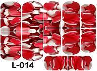 Слайдер дизайн (водная наклейка) для ногтей L-014