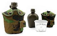 """Набор походной посуды в термочехлах """"US ARMY"""" Нато (Woodland) /Комплект/"""
