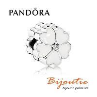 Pandora шарм-клипса БЕЛАЯ ПРИМУЛА №791822EN12 серебро 925 Пандора оригинал