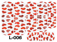 Слайдер дизайн (водна наклейка) для нігтів L-006