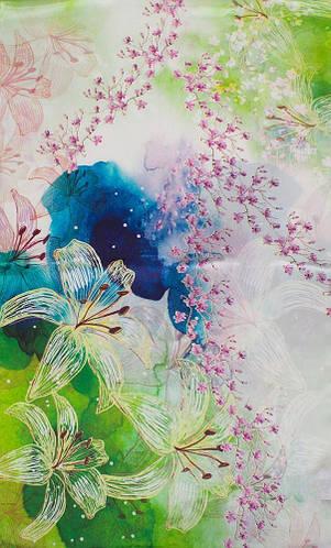 Шелковый яркий привлекательный женский шарф 176*51 ETERNO (ЭТЕРНО) ES2711-28