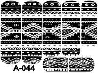 Слайдер дизайн (водная наклейка) для ногтей A-044
