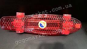 Красный прозрачный скейт Пенни борд