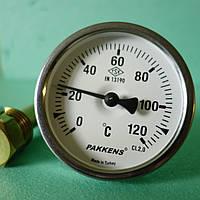 "Термометр патронный 1/2"", d=63мм. t=120°,Lпат=50мм. Pakkens, фото 1"