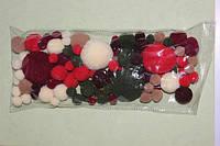 Набор текстильных помпонов Рождество