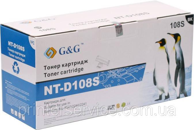 Картридж mlt d108s совместимый (аналог) для Samsung ML-1640/ 2240, G&G-D108S black