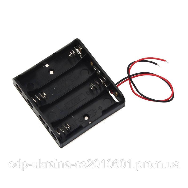 Бокс на 4 батарейки АА (пальчиковых)