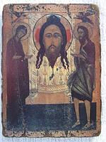 Икона Спас Нерукотворный с предстоящими