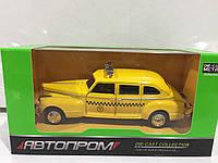 Автомобиль такси желтый