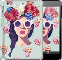 """Чехол на iPad mini Девушка с цветами """"2812c-27"""""""