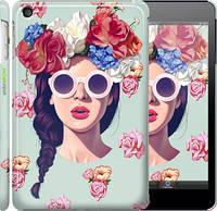 """Чехол на iPad mini 3 Девушка с цветами """"2812c-54"""""""
