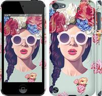 "Чехол на iPod Touch 5 Девушка с цветами ""2812c-35"""