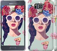 """Чехол на Samsung Galaxy Alpha G850F Девушка с цветами """"2812c-65"""""""