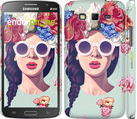 "Чехол на Samsung Galaxy Grand 2 G7102 Девушка с цветами ""2812c-41"""
