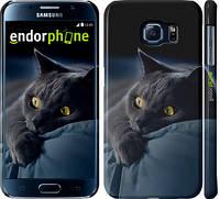 """Чехол на Samsung Galaxy S6 G920 Дымчатый кот """"825c-80"""""""