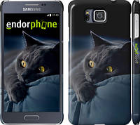 "Чехол на Samsung Galaxy Alpha G850F Дымчатый кот ""825c-65"""