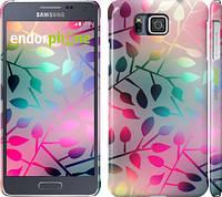 """Чехол на Samsung Galaxy Alpha G850F Листья """"2235c-65"""""""
