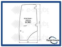 Стекло экскаватор-погрузчик Komatsu WB91R WB93R WB97R WB97S WB146PS WB156PS - левая дверь