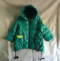 Куртка ветровка парка детская для девочки 4-8 лет,мятная