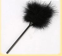 Перо для интимных ласк Черное. Натуральное перо  Качество