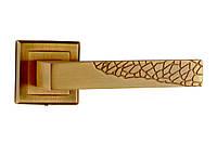 Ручка дверная раздельная Mongoosе Дюна античная медь