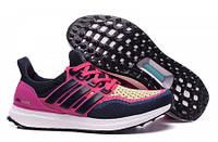 Женские беговые кроссовки Adidas Ultra Boost Navy Pink, кроссовки адидас ультра буст