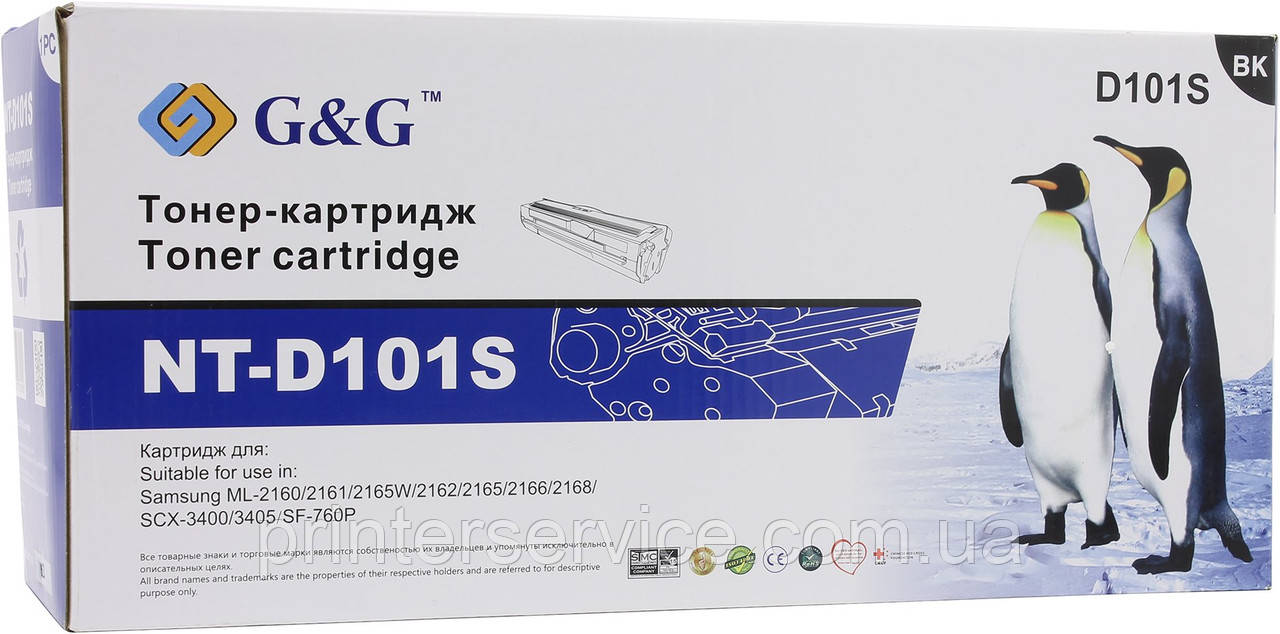 D101s картридж совместимый (аналог) для Samsung ML-2160 /2165 SCX-3400/ 3405, G&G-D101S black