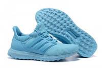 Женские беговые кроссовки Adidas Ultra Boost All Light Blue, кроссовки адидас ультра буст голубые