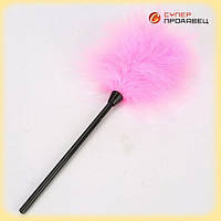 Перо для интимных ласк розовое Натуральное перо  Качество