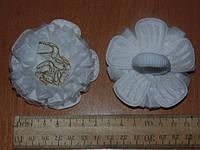 Резинки ромашки белые большие с блестками