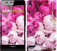 "Чехол на Huawei Ascend P6 Розовые пионы ""2747c-39"""
