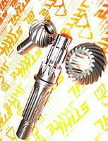 Набор шестерень (редукторная пара + ведомый вал ) для мотокос Stihl FS 55 и FS 56, оригинал