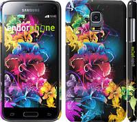 "Чехол на Samsung Galaxy S5 mini G800H Абстрактные цветы ""511c-44"""