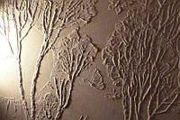 Декоративная лепка на стене