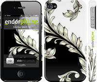 "Чехол на iPhone 4s White and black 1 ""2805c-12"""