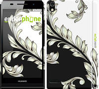 "Чехол на Huawei Ascend P6 White and black 1 ""2805c-39"""