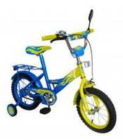 Велосипед 2-х колес 14  141406-B 1шт со звонком, зеркалом, с вставками в колесах