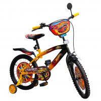 Велосипед 2-х колес 14 141413 1шт со звонком, зеркалом, с вставками в колесах